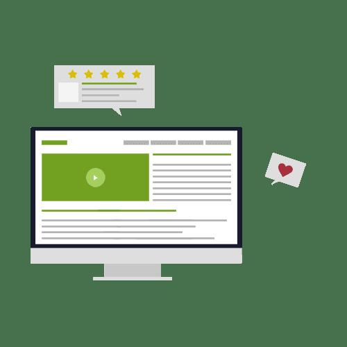 Content Gestaltung und Content Creation für Webseiten